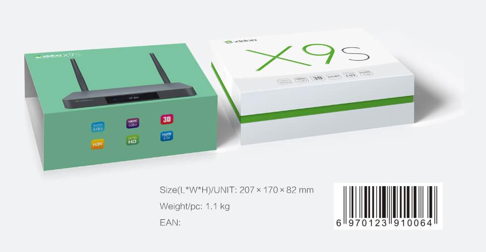 X9S spec size